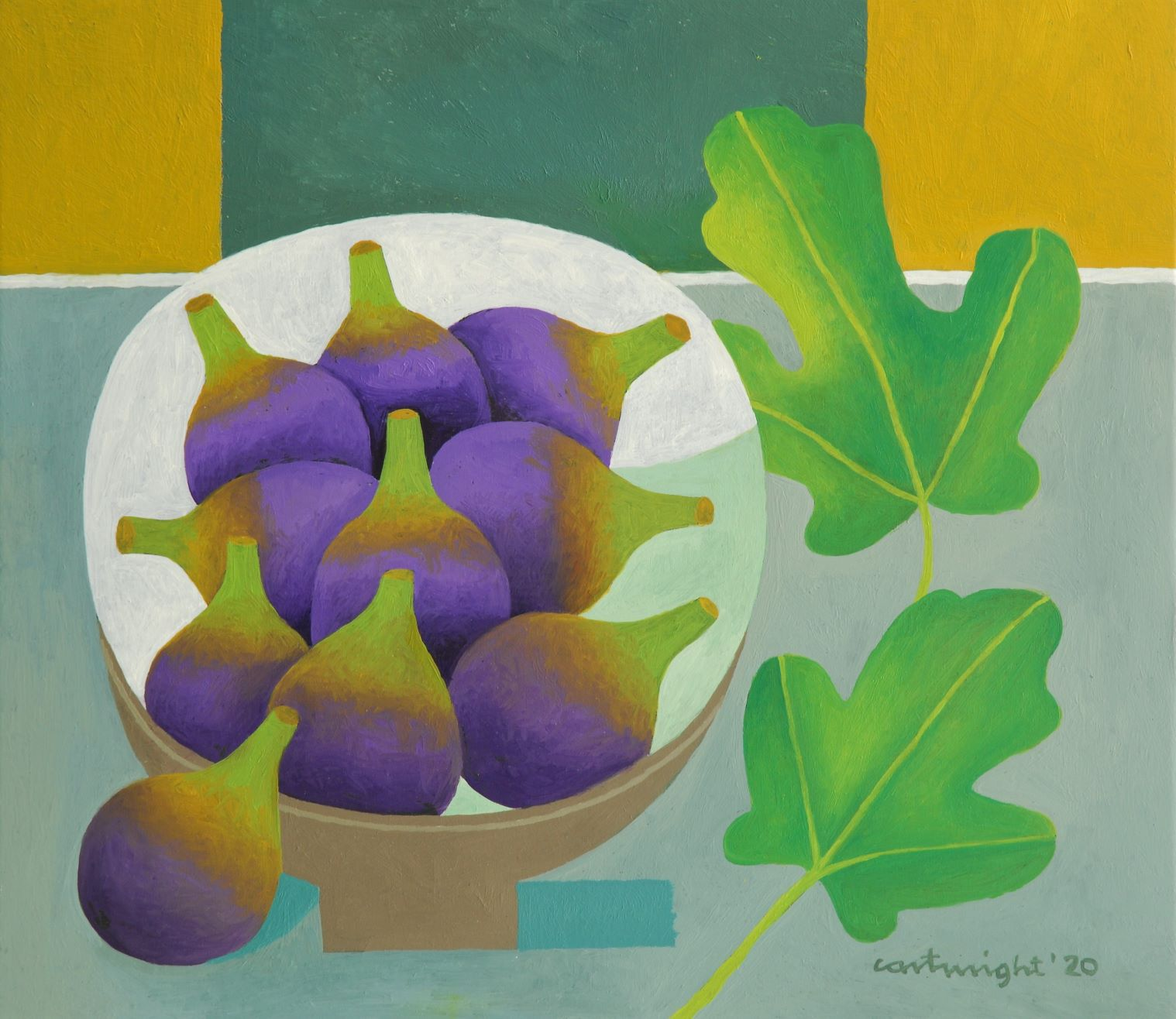 bowl of figs painting