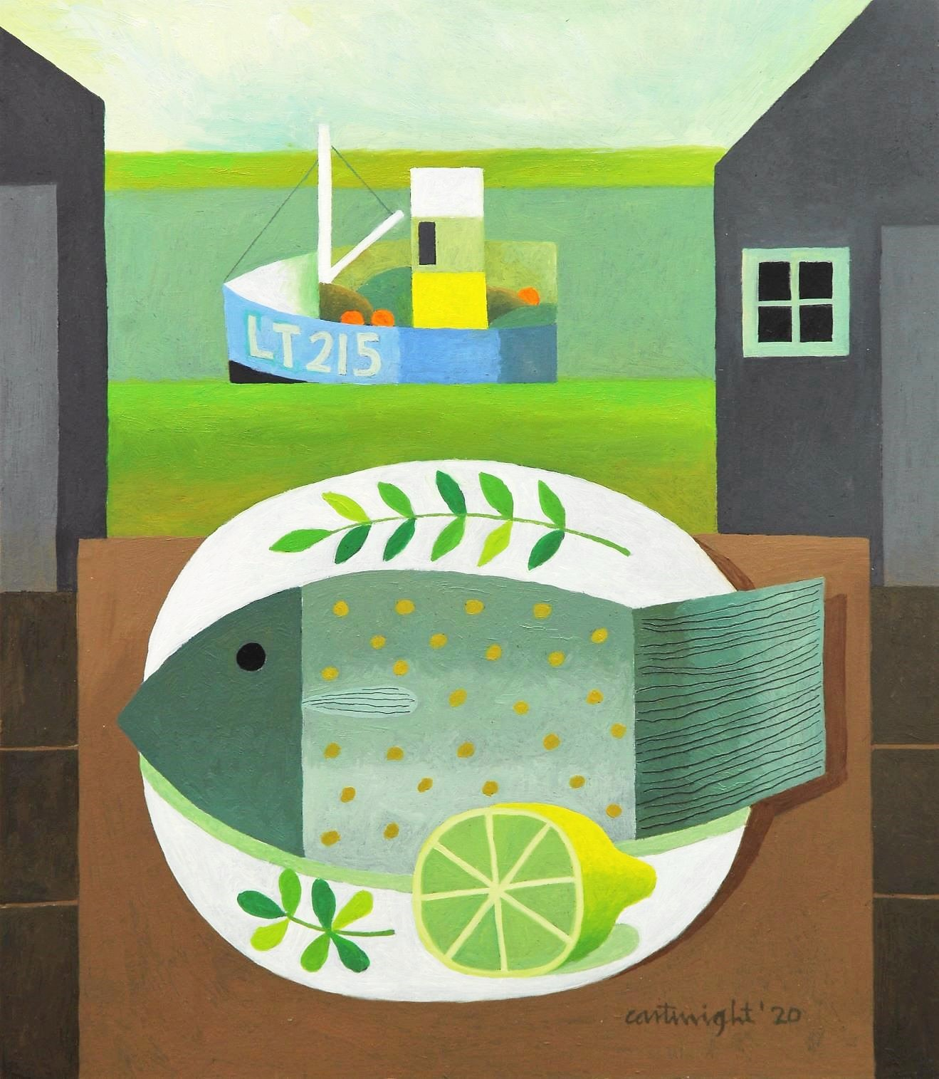 east coast landscape with fish and lemon